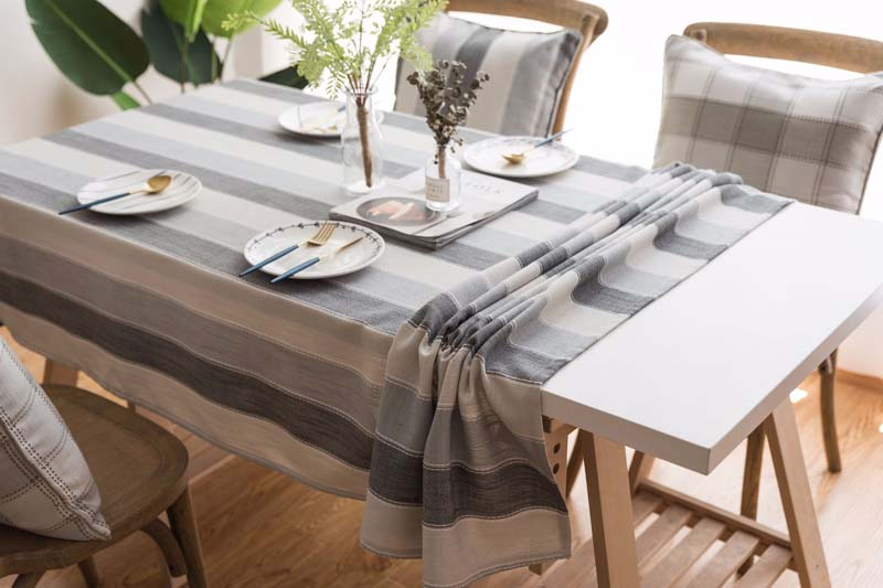 Striped Rectangular Tablecloth Print Color Wedding Birthday Party Table Rectangle Desk Cloth Wipe Covers Waterproof Table Cloth