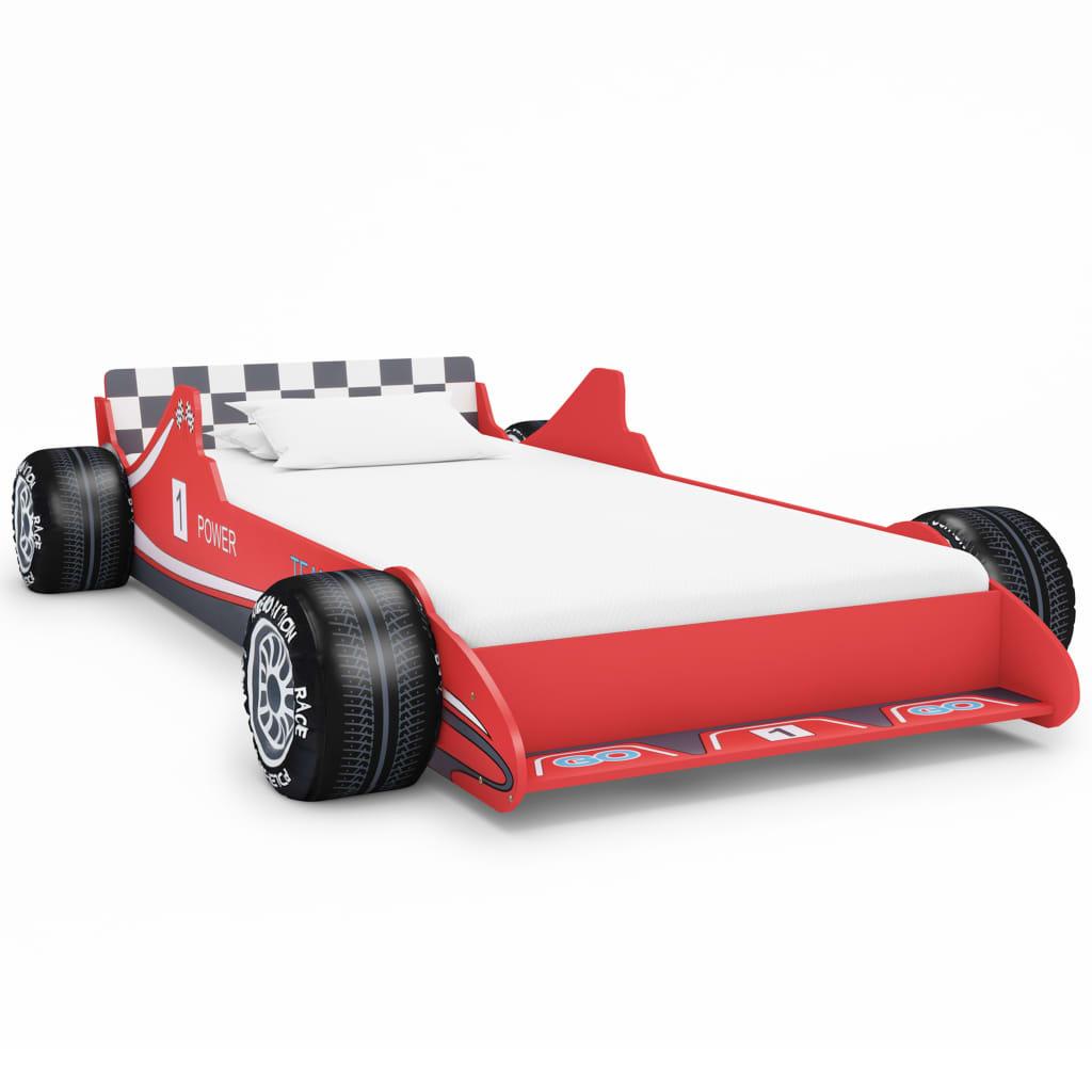 VidaXL Children's Race Car Bed 90x200 Cm Red