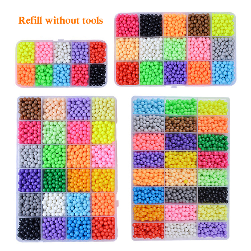 6000 PCS DIY Handmade Boy And Girl Toys Magic Water Mist Magic Stick Beads Water Stick Beads Water Spray Magic Beads Kids Toys