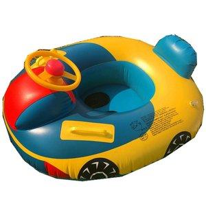 Anillo de natación inflable para bebé, flotador de natación de cisne de verano para niño, juguetes de piscina de diversión con agua, asiento de anillo de natación, barco deportivo para 3-6 años
