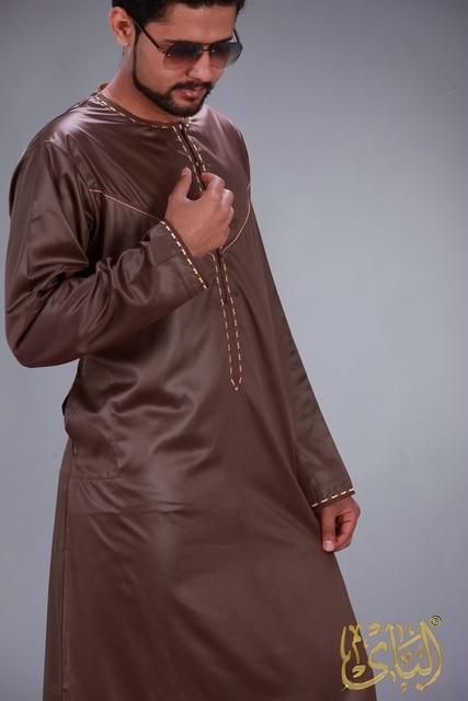 الملابس الإسلامية الرجال رداء طويل الأكمام العربية قفطان الإسلام فستان عربي الرجال المملكة العربية السعودية ازياء مسلم كورتا باكستان الهندي 2