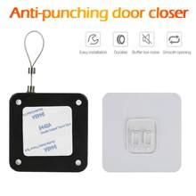 Sensor automático de puerta sin perforación, cierre de puerta adecuado para todas las puertas, 800g de tensión, 1 ud.