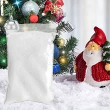 Neige artificielle, poudre pelucheuse instantanée, Non toxique, Simulation de neige Recyclable, flocon de neige pour décoration de fête de noël