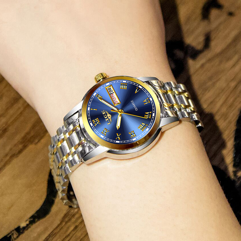 New LIGE Women Watch Luxury Brand Watch Simple Quartz Lady Waterproof Wristwatch Female Fashion Casual Watches Clock Reloj Mujer