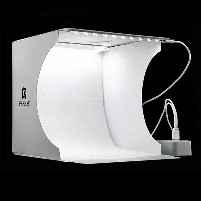 ミニ折りたたみ写真スタジオソフトボックスライトソフトボックスの背景のキット写真一眼レフカメラ用 2 led パネル