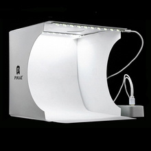Mini pliant Studio de photographie boîte souple Lightbox Softbox Kit de fond Photo Studio boîte à lumière 2 panneaux LED pour appareil Photo reflex numérique