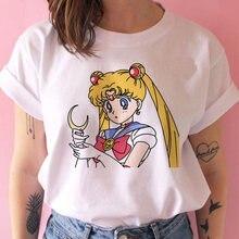Plus los sailor moon harajuku t camisas das mulheres ullzang estilo coreano bonito camiseta gráfico engraçado topo camisetas femininas roupas