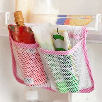 Storage Mesh Bag Creative Kitchen Refrigerator Hanging Storage Bag Food Organizer Fridge Mesh Holder image