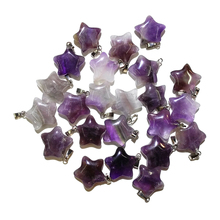 10Pcs/lot Natural Stone Amethysts Pendant Crystal Charms Pendants For Making Necklace Jewelry Wholesale