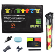 MAICCA Football referee bag with whistle cards coin barometer Professional Soccer wallet set for Sports Wholesale