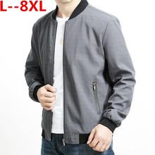 2020 Plus 5XL 6XL 8XL baseball wiosna jesień moda Slim Fit męska kurtka cienkie kurtki marki płaszcz na co dzień tanie tanio W (pochodzenie) zipper 1827 REGULAR STANDARD NONE COTTON Stałe Krótki Kieszenie Poliester Konwencjonalne Outerwear Coats