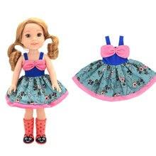 2020 nuevo vestido Vintage apto para muñeca American GirlS de 14 pulgadas ropa de muñeca, zapatos no están incluidos.