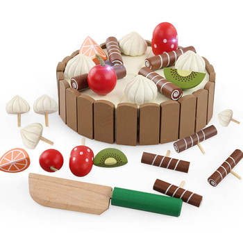 9pcs pretend play simulation food kitchen toys sweet food children cooking toys 3d refrigerator magnets stickers ice cream cake Cutting Cake Wooden Kids Kitchen Toy Pretend Play Food Children Kitchen Kids Toys Wooden Cooking Toys