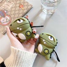 For AirPod 2 Case 3D Cool Boy Dinosaur Cartoon Soft Silicone Wireless Earphone Cases Apple Airpods Cute Cover Funda