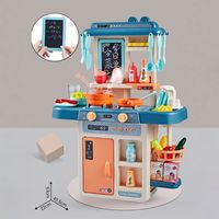 42Pcs/Set Simulation Kitchen Toy Spray Water Dinnerware Children's Toys Cooking Table Set E65D