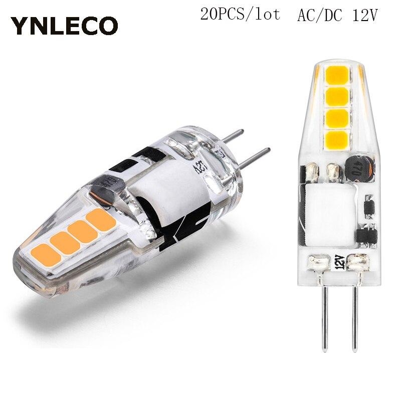 20PCS G4 LED Lamp 12V AC DC 2W Lampada Lampara LED G4 Light Bulb Ampul 8 Leds No Flicker 2835SMD Lights Replace 20W Halogen Lamp