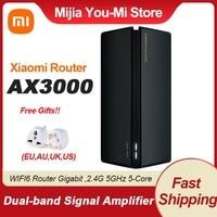 2021 Xiaomi AX3000 Router WIFI6 Gigabit 2.4G 5GHz Router Dual-Band a 5 Core ripetitore OFDMA 4 amplificatore di segnale adattatore ue Router Mi