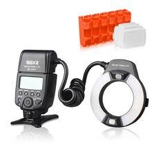 Meike-ring flash light MK-14EXT i-ttl para nikon d5600 d5200 d5100 d5000 d3200 d3100 d90 d750 d600 com lâmpada led af