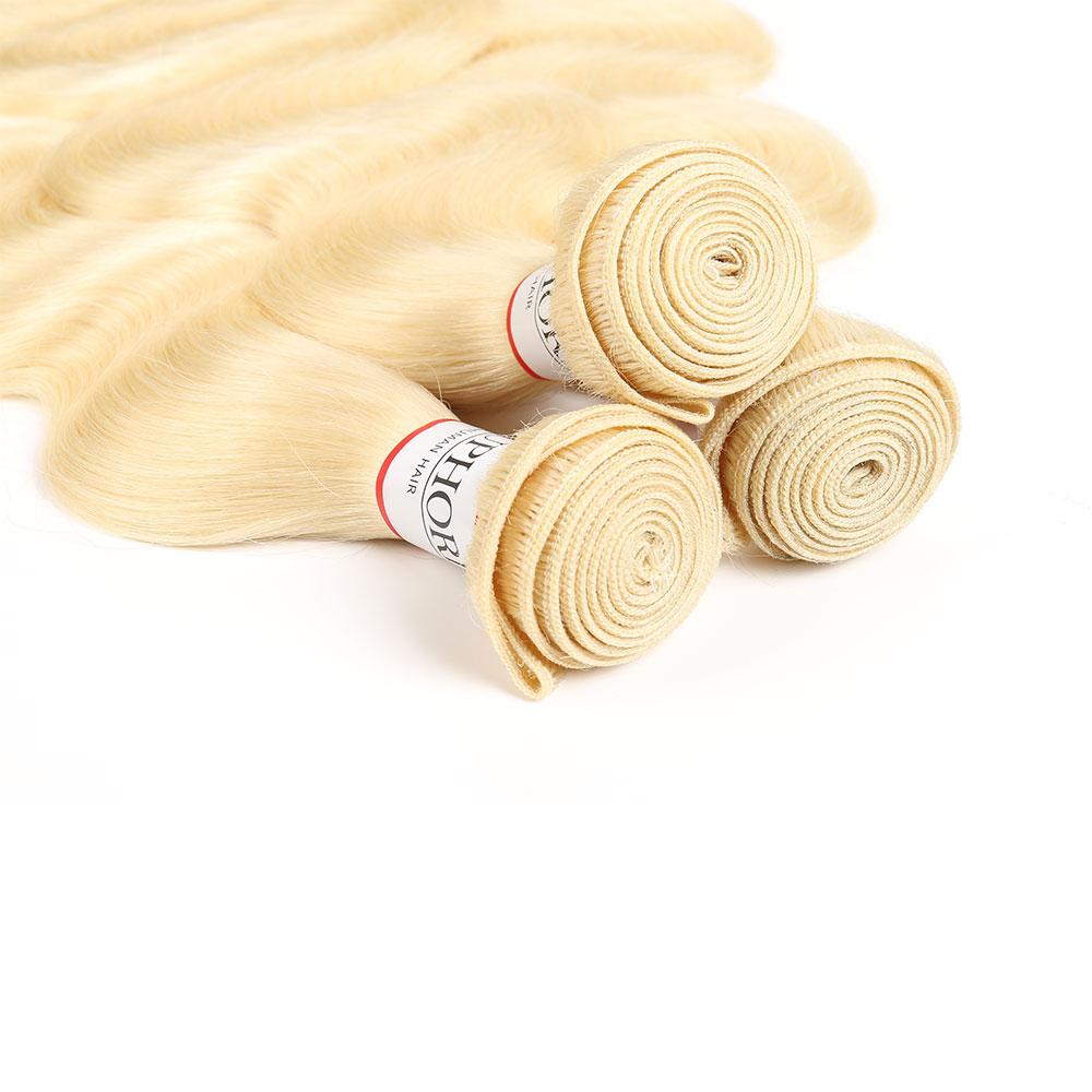 Image 5 - Euphoria 613 Bundles Brazilian Body Wave 100% Remy Human Hair Bundles 8 26inch Platinum Blonde 1B 613 Ombre Bundle Hair Weaving-in Hair Weaves from Hair Extensions & Wigs