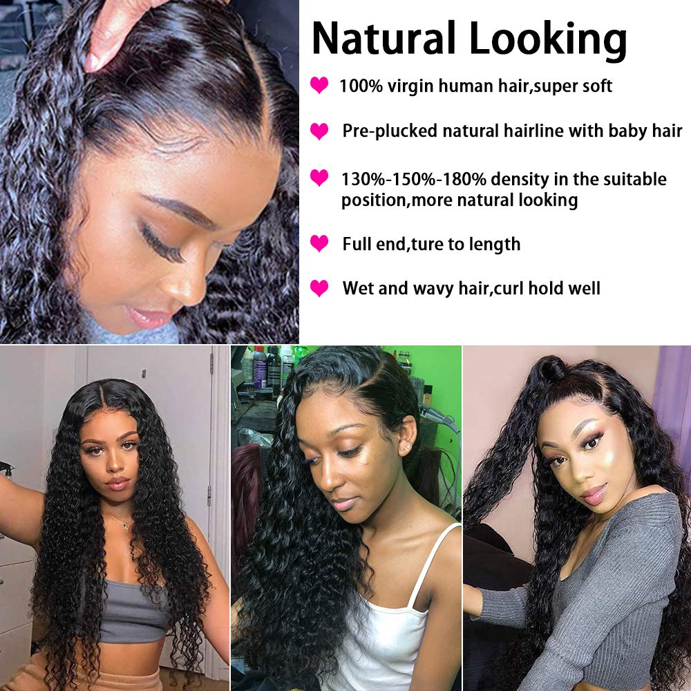 360 Lace Frontal Wig Full Lace  Wigs    Loose Deep Wave Frontal Wig Curly  Wig 3