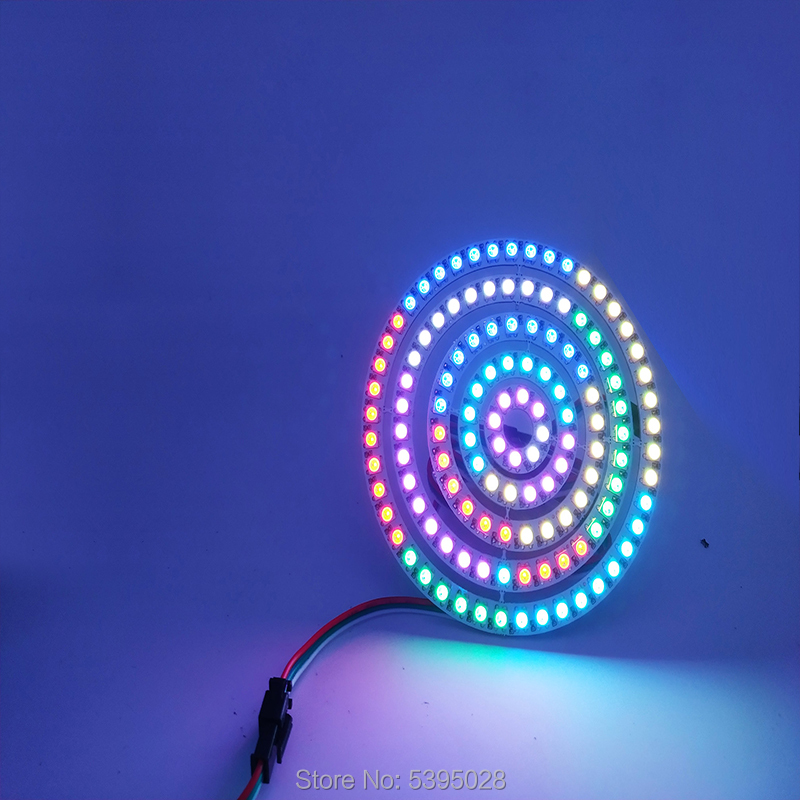 DIY WS2812B  Independent IC Chip 8 16 24 35 45 LEDs  5050 RGB LED Ring Lamp Pixel Programming Integrated Drivers  Arduino