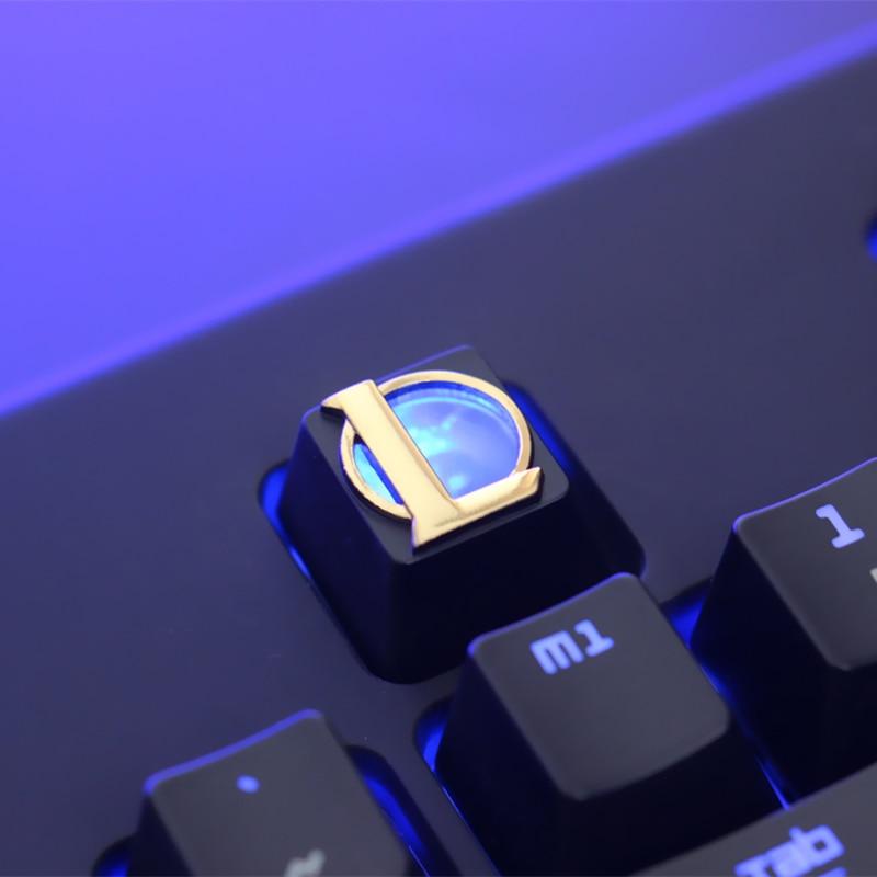 Liga de Lendas Liga de Alumínio Alívio Personalidade Zinco Metal Keycap Teclado Mecânico r4 Botão Altura 1 Pçs Lol