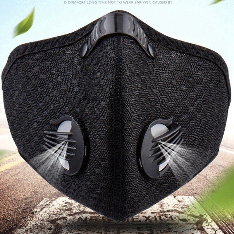 Unisex Adult Air Pollution Mask Fashion Sport Breathing Carbon Bike Anti-dust Mask Breathing Filter And Valve
