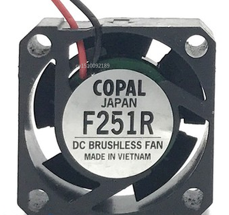 Free Shipping For COPAL JAPAN F251R DC12V 5V 3pin 2wire 25X25X10MM Cooling Fan