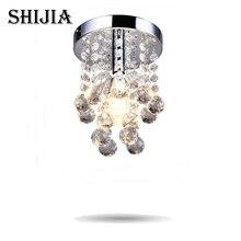 Energy-Saving LED Luxury Crystal Simple Small Aisle Stair Hallway K9 Ceiling Lamp все цены