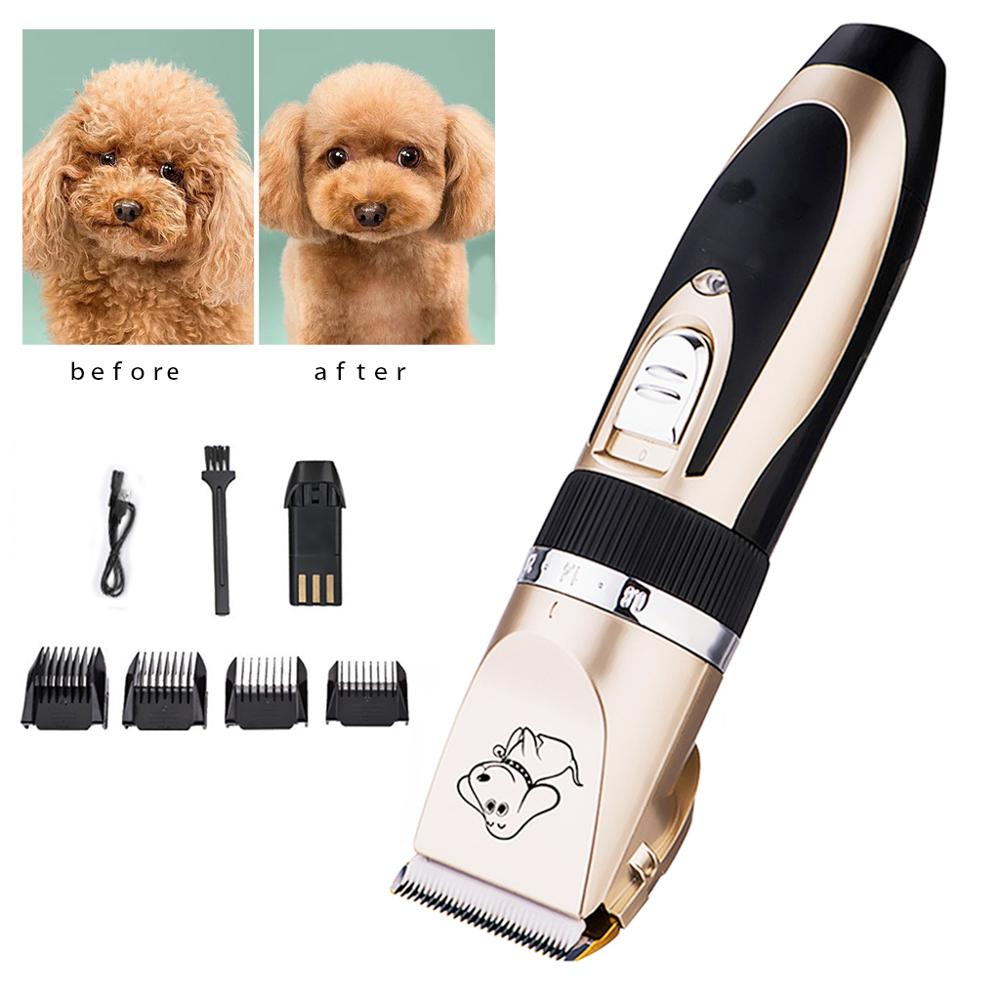 Pet Dog Hair Trimmer Remover Grooming Electrical Rechargeable Low noise Animal haircut machine Clipper Elbows for dogs shearing