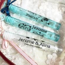 Étiquettes à bulles pour décoration de mariage, baguette à bulles personnalisées transparentes, adhésif (Tube non inclus) dautocollants pour cadeau, 100 pièces