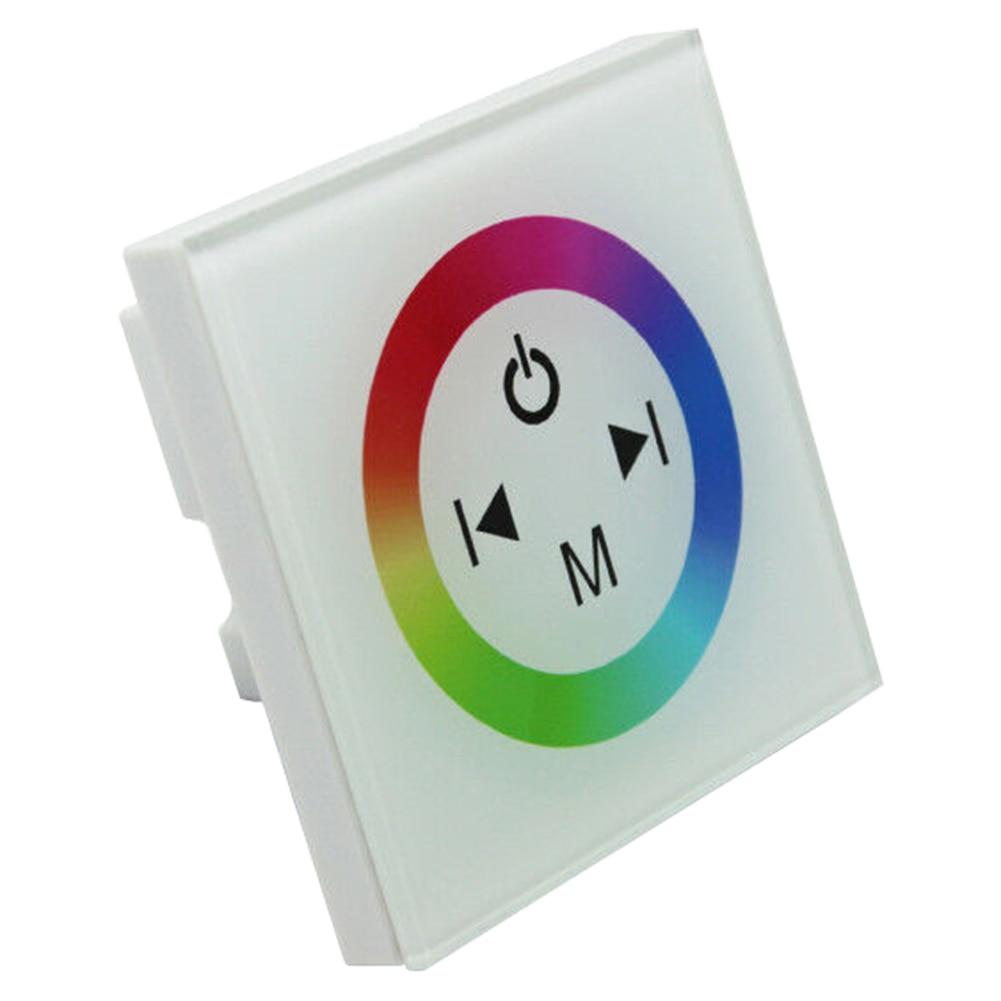 Диммер Интеллектуальный многоцветный стабильный RGB контроллер переключатель настенный светодиодная лента практичная Сенсорная панель
