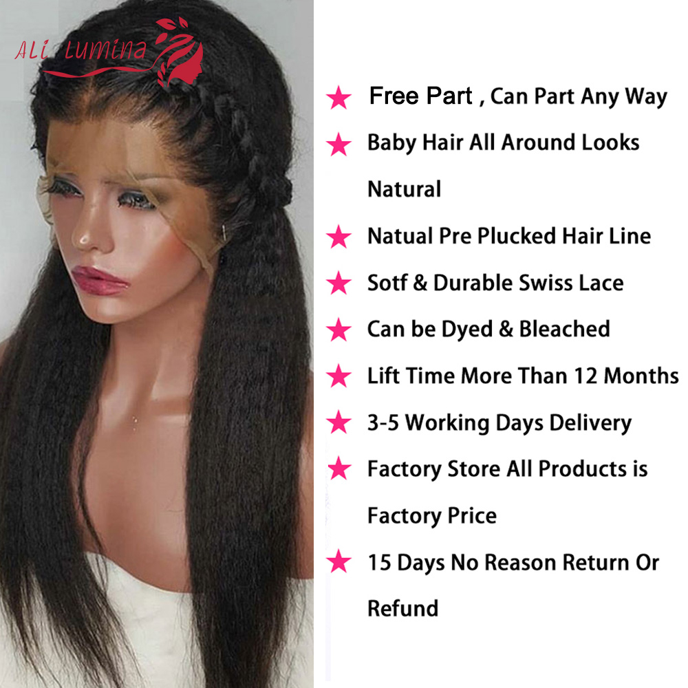 Kinky Straight 13x4 Lace Frontal Wig Ali Lumina 4