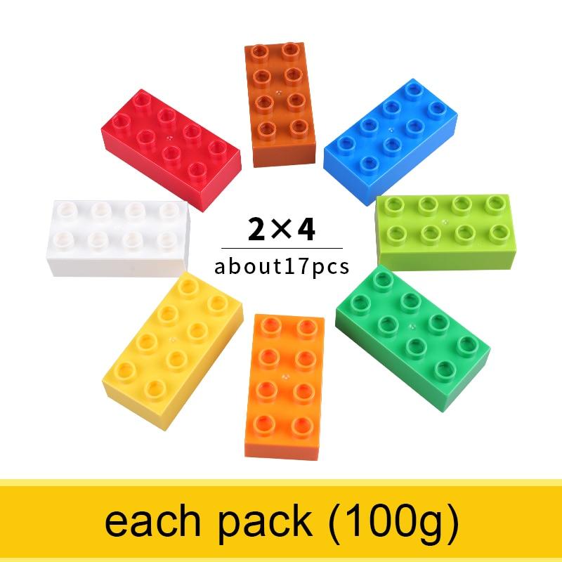 2x4 Large Size Bricks Classic Colorful Big Size Building Blocks Learning Toys For Children Comaptible With Legoed Duploed Bricks