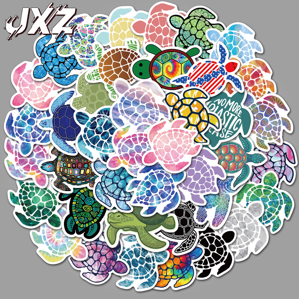 41Pcs/pack Colorful Sea Turtle Stickers Cute Stickers For Scrapbooking Phone Skateboards Laptop Luggage Stickers title=