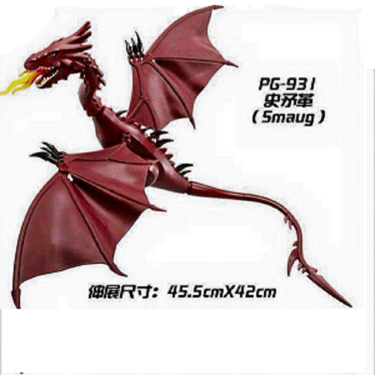 Single Sale The Hobbit Movie Building Blocks Smaug Bricks Anime Figures Educational Learning Toys For Children Fake Order image