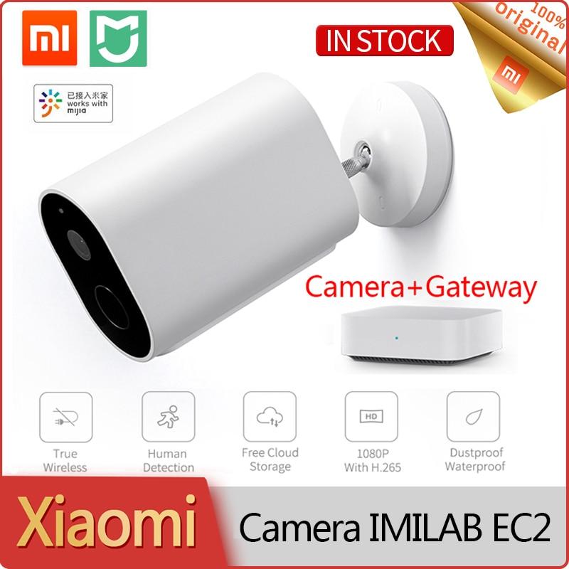 Xiaomi caméra Wifi extérieure IMILAB EC2 Webcam caméra de sécurité à domicile sans fil 1080P IP66 avec batterie alarme d'interphone vocal à distance |