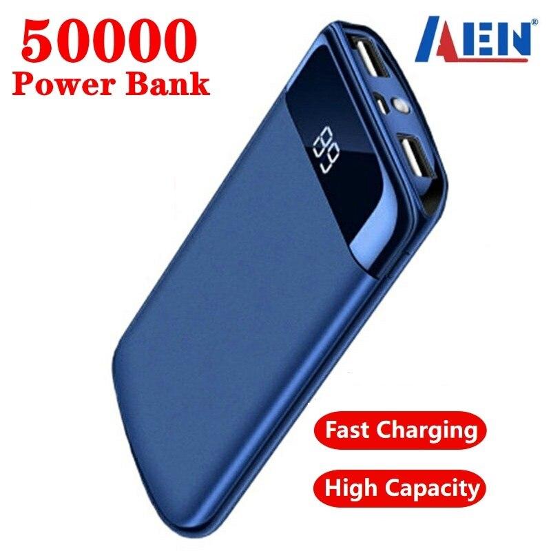 Для Xiaomi Samsung iphone 7 8X50000 мАч портативное зарядное устройство Внешняя батарея повербанк USB LED Power Bank портативный мобильный телефон зарядное устр...