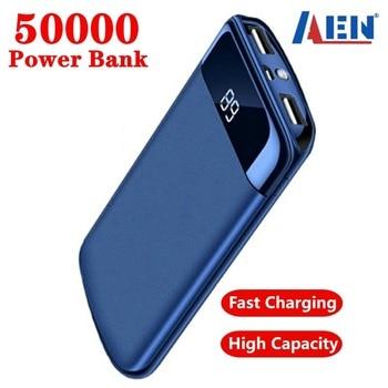 For Xiaomi Samsung iphone 7 8 X 50000mah Power Bank External Battery PoverBank USB LED Powerbank Por