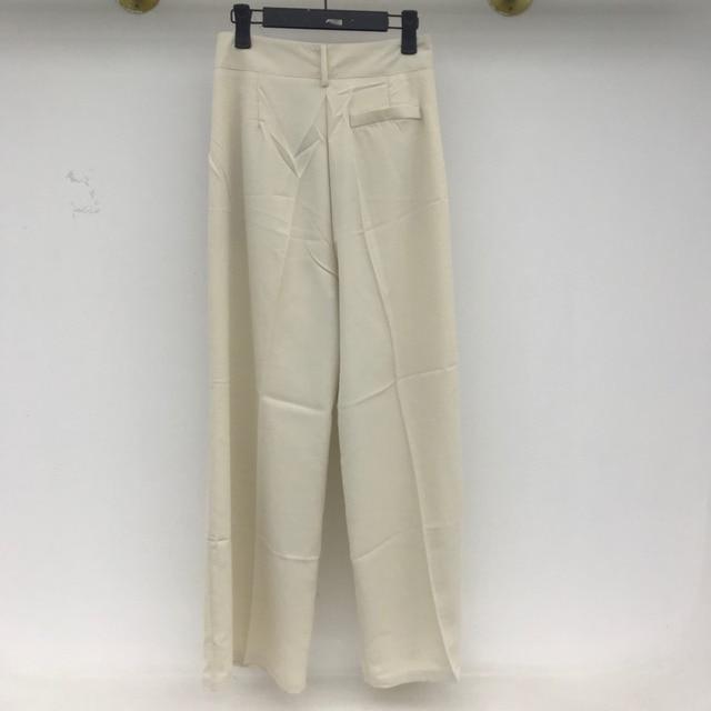 [EWQ] Korea Chic Casual Fashion Temperament Solid High Waist Folds Loose Wide-leg All-match Suit Pants Women Summer 2021 16E82 6