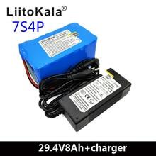LiitoKala 24V 8ah Electric bicycle Lithium Ion Battery 29.4V 8000mAh 15A BMS 250W 24V 350W 18650 Battery Pack Wheelchair Motor цена