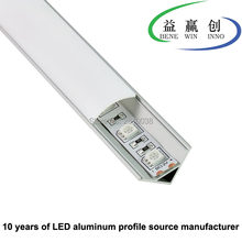 10 Sets/lot 60 Derajat Corner Aluminium LED Profil AL6063 LED Aluminium Profil untuk LED Strip Lampu Lemari Dapur(China)