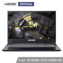 Hasee ZX6Ti-CU5DS Laptop für Gaming(i5-10400 + GTX1650Ti/16G RAM/512G SSD/15.6