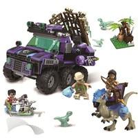 Classic Jurassic World Catch Stygimoloch Building Blocks Set Bricks Dinosaur Movie Model Kids Toys Gift