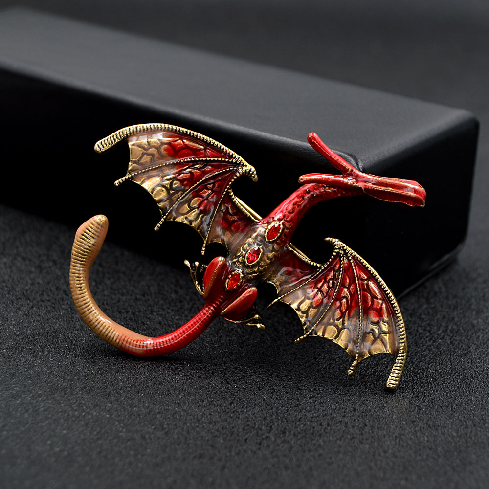 CINDY XIANG New Arrival Enamel Dragon Brooch Unisex Women And Men Pin Animal Large Brooches 5 Colors Available Gift 3