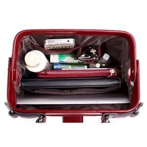 Image 5 - แฟชั่นลายสก๊อตRivets PuหนังCrossbodyกระเป๋าผู้หญิงสีทึบกระเป๋าถือไหล่หญิงDoctor Tote