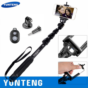 100% Original YUNTENG 188 Handheld Extendable Pole Camera Monopod Selfie Stick Tripod Selfie For Phones iphone Gopro 4/5/6/7