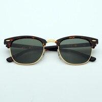 Cubojue Glass Sunglasses Men Women Acetate Brand Designer Sun Glasses for Man Anti Scratch UV400 Crystal Lens