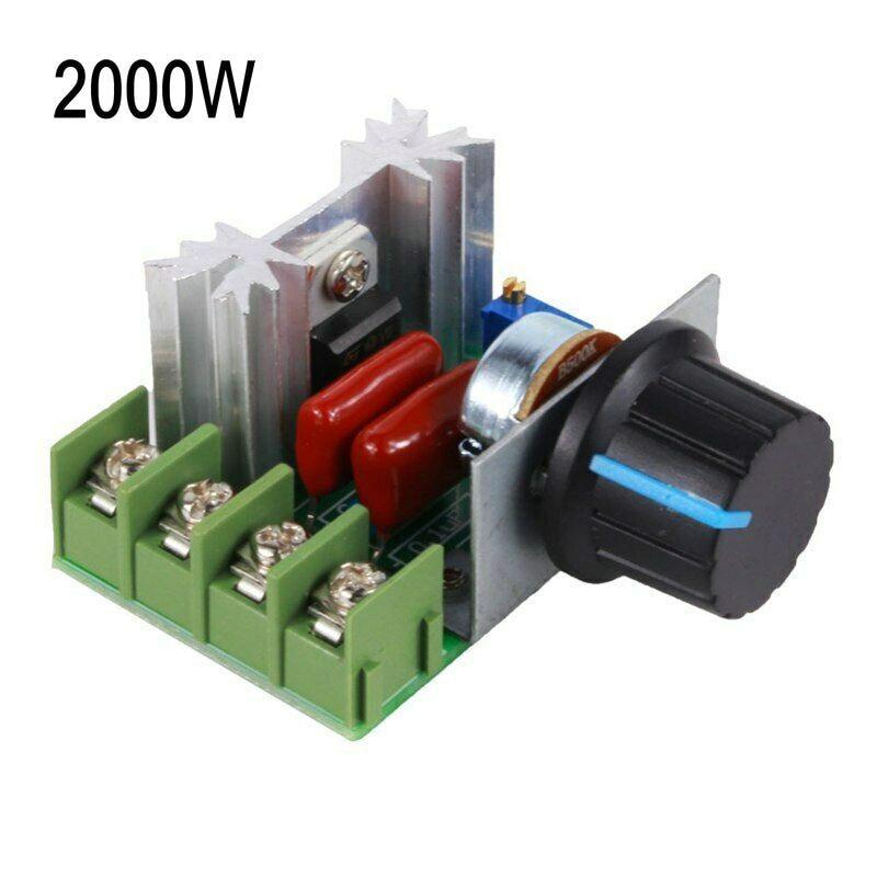 2000W Speed Controller SCR Voltage Regulator Dimming Dimmers 220V/110V