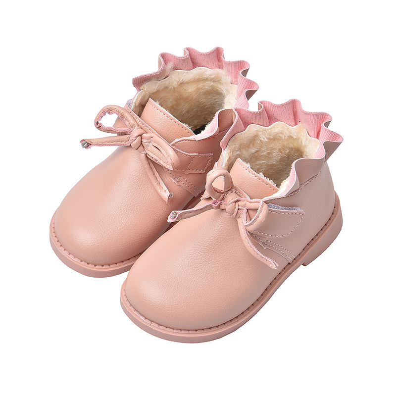 Girls Leather Snow Boots Shoes For Kids